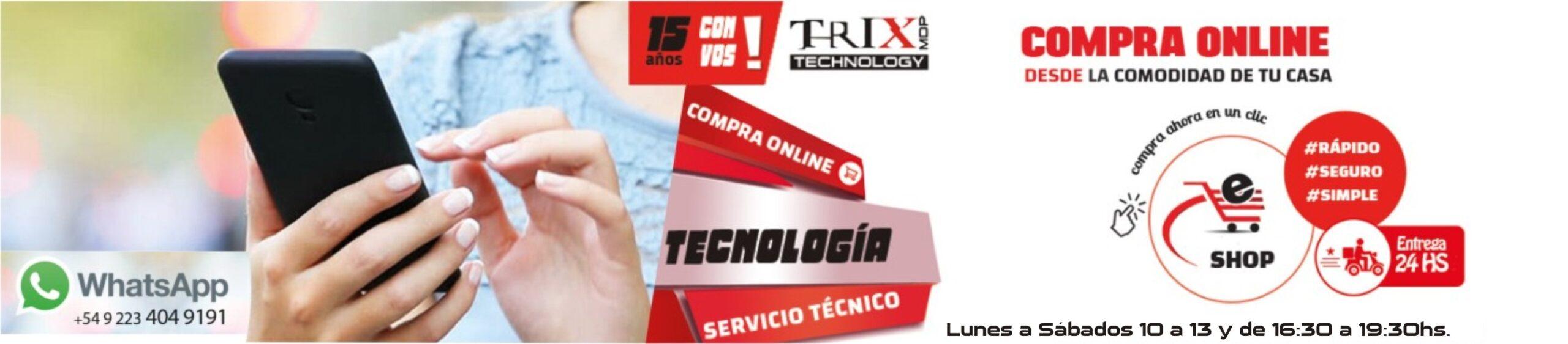 comprar tecnología, computación, celulares libres,  con mercadopago en trixmdp